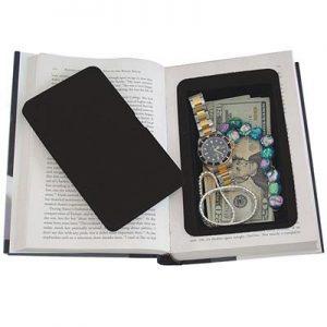 Real Book Diversion Safe Showing Safe Lid And Illustration Valuables Inside