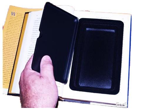 Real Book Diversion Safe Showing Safe Lid And Inside