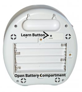 Barking Dog Alarm Open Battery Compartment