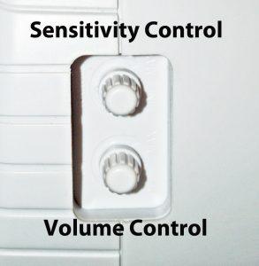 Barking Dog Alarm Volume and Sensitivity Controls