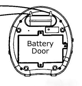 Barking Dog Alarm Battery Door Graphic