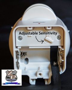 HomeSafe Adjustable Motion Sensor Battery Compartment