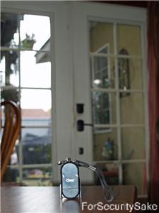 Mini Alarm On Table Facing Door