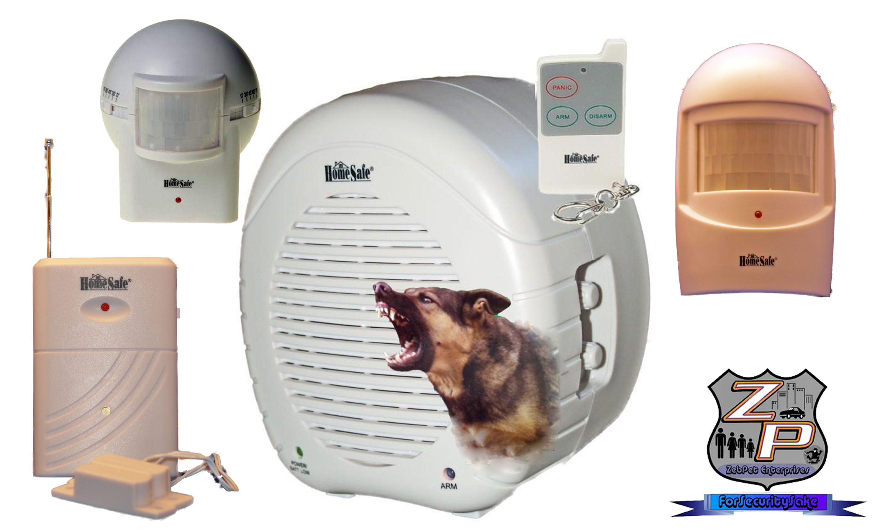 Barking Dog Alarm Package Showing Available Add On Sensors