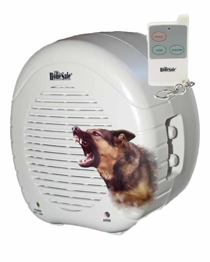 HomeSafe Brand Barking Dog Alarm With Dog Brushed