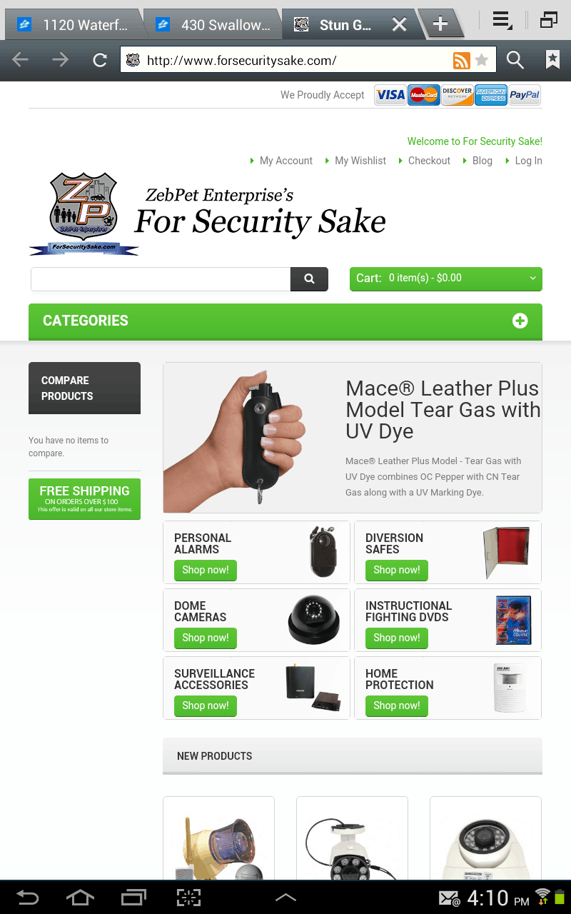 Old Site ForSecuritySake Mobile Screens