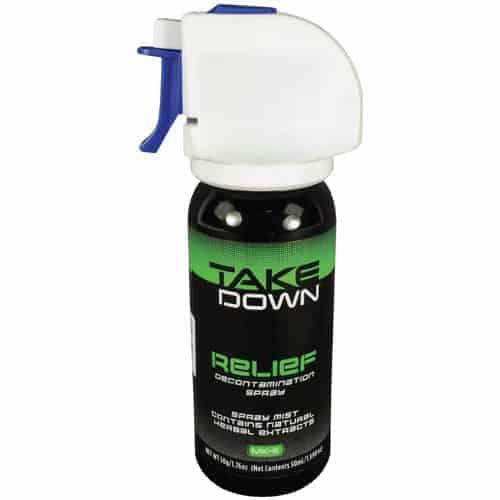 Take Down OC Relief Decontamination Spray Side