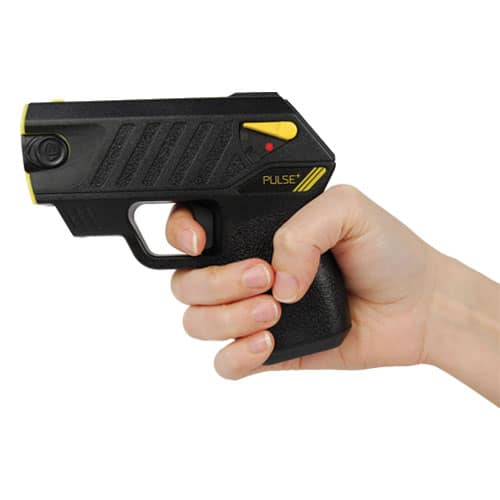 Taser® Pulse Plus With Laser, LED In Hand Angled