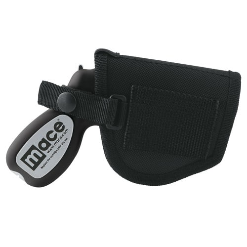 Mace Pepper Gun Holster Side with gun