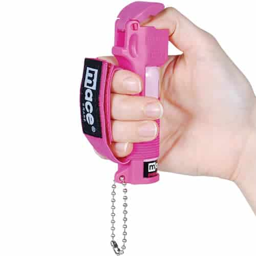 Mace® Pepper Spray Jogger – Pink In Hand
