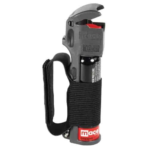Mace® Pepper Spray Jogger – Black Flip Top And Grip