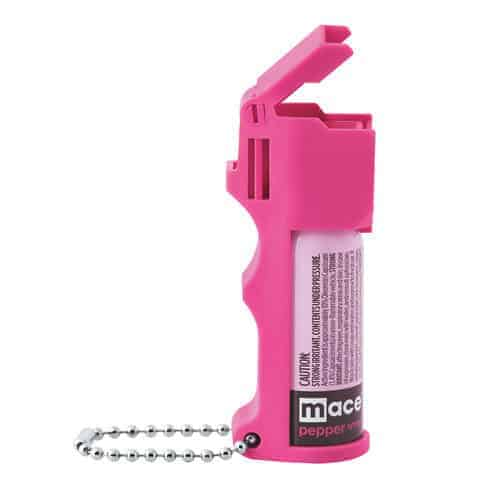 Mace Hot Pink Pepper Spray Pocket Model Flip Top And Key Chain