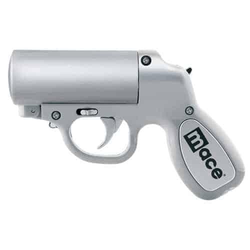Mace® Pepper Gun – Silver Left Side