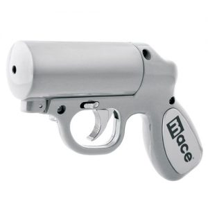 Mace® Pepper Gun – Silver Left Front Side