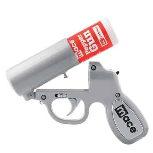 Mace® Pepper Gun – Silver Open