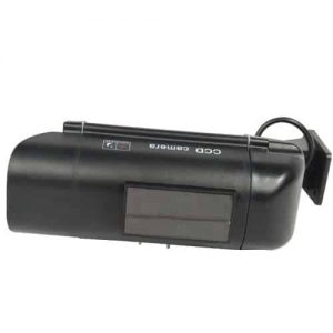 Dummy CCTV Camera With Solar Chargeable Battery Red LED Black Top