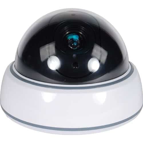 Dummy Dome Camera With LED, White Body Front