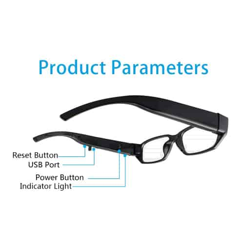 Eye Glasses With Hidden Camera Parameters