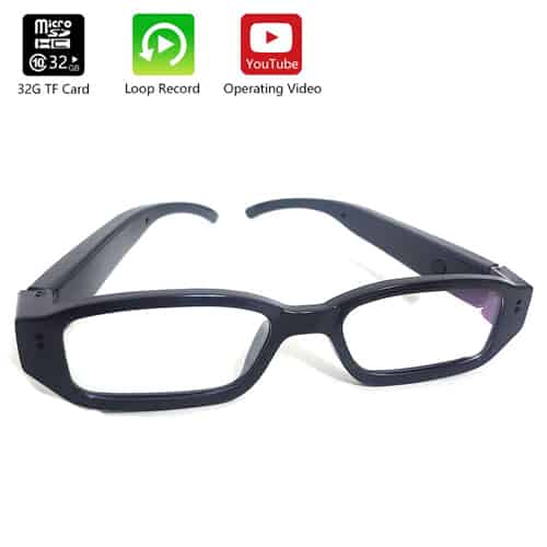 Eye glasses with Hidden Camera Front With Features