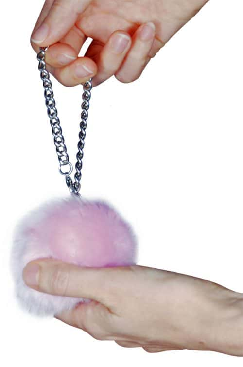 Fur Ball Alarm Pink Held