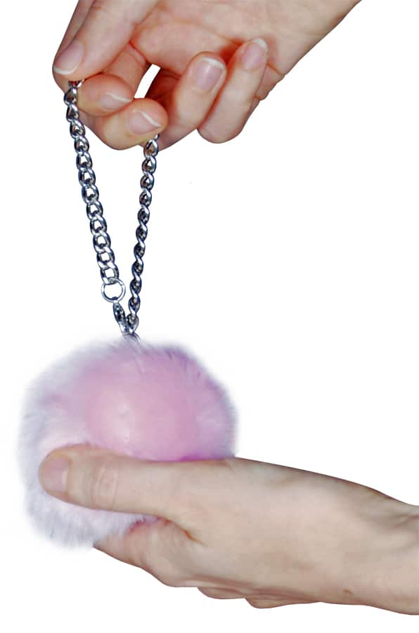 Fur Ball Alarm Pink Held
