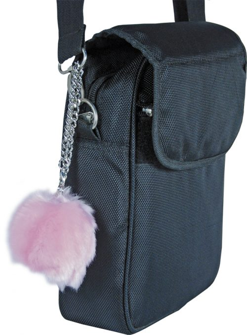 Fur Ball Alarm Pink On Case Handle