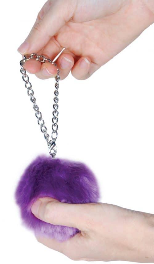Fur Ball Alarm Purple Held