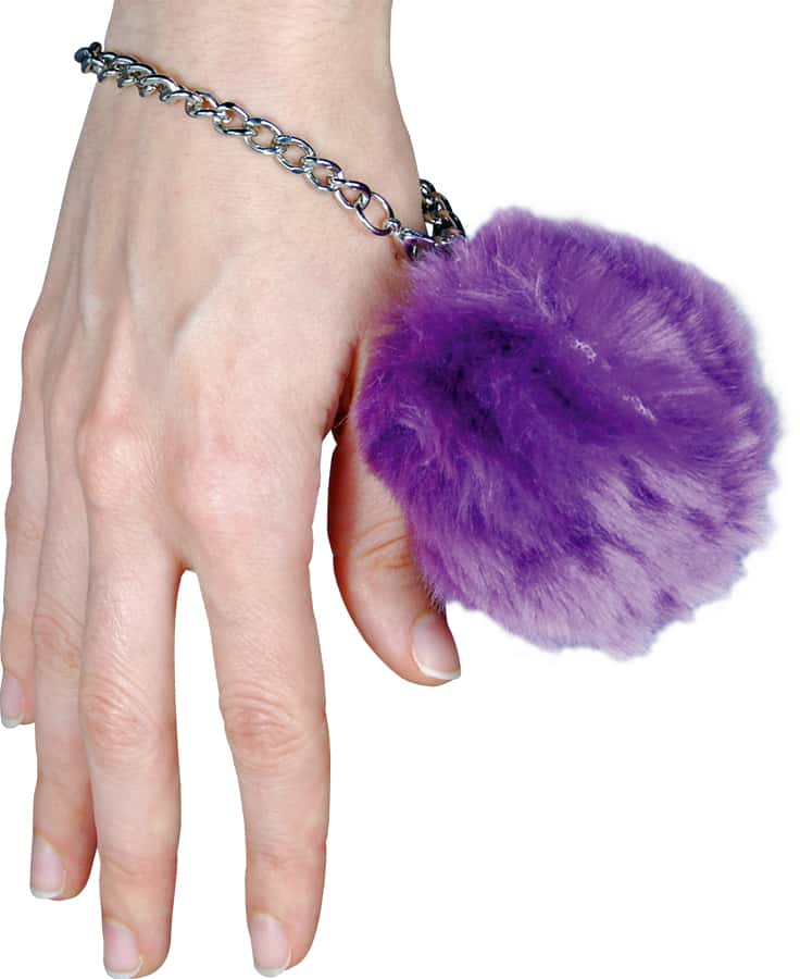 Fur Ball Alarm Purple On Wrist