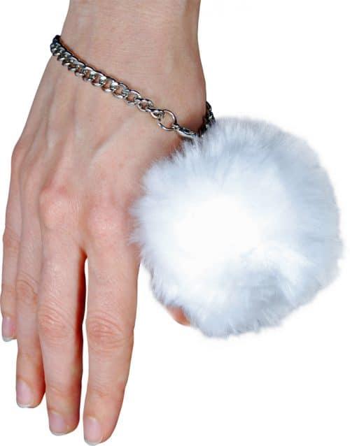 Fur Ball Alarm White On Wrist
