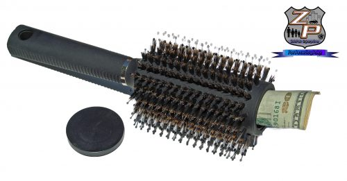 Real Hair Brush With Hidden Diversion Safe Open
