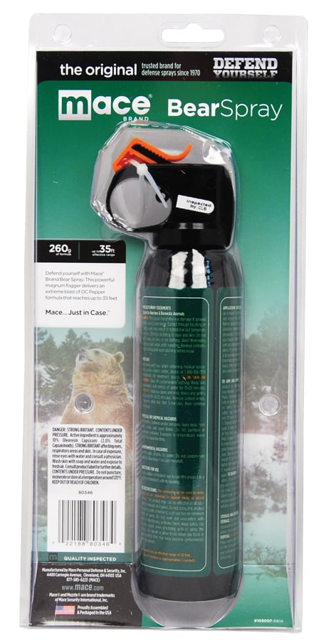 Mace Bear Spray Right Side Package