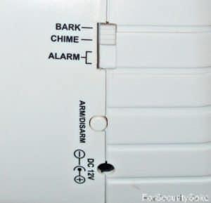 Barking Dog Alarm 2nd Side Controls