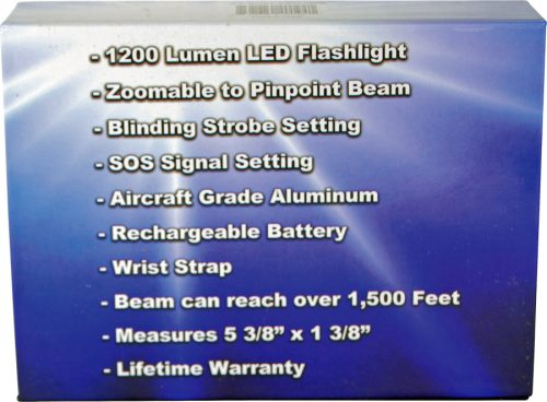 Rechargable Zoomable LED Flashliht Retail Box