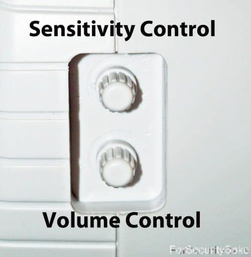 Barking Dog Alarm Side Controls