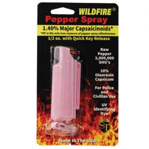 WildFire Pink Hard Case Pepper Spray In Retail Package