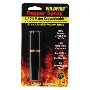 WildFire™ 1.4% MC Lipstick Pepper Spray – Black Retail Package