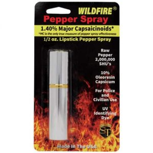 WildFire™ 1.4% MC Lipstick Pepper Spray – Silver Retail Package