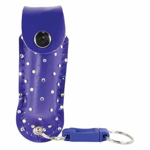 Wildfire™ 1.4% MC 1/2 oz With Blue Rhinestone Holster And Key Ring