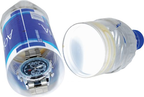 Water Bottle Diversion Safe On Side Open With Watch