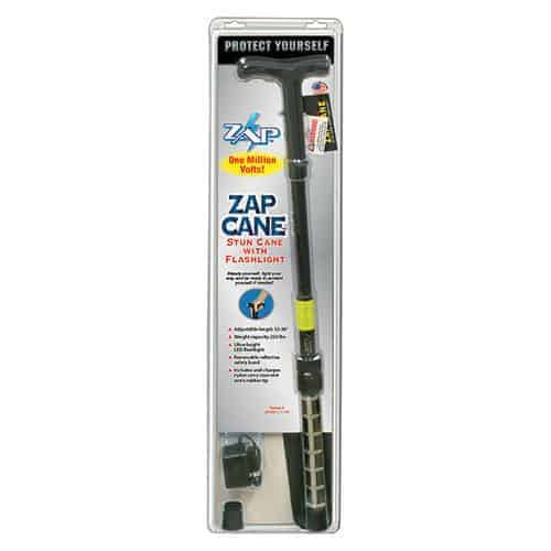 Zap Walking Cane Stun Gun Retail Package