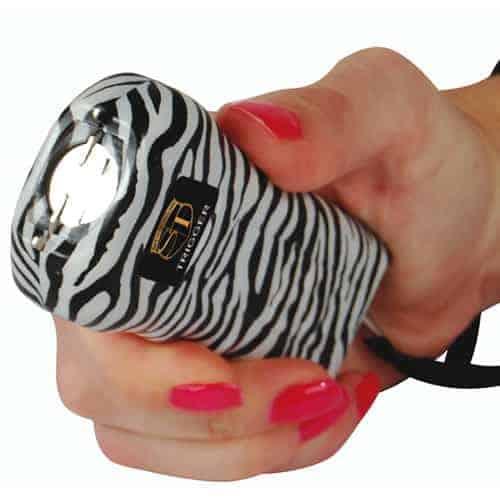 Trigger Stun Gun Top With Flashlight Zebra