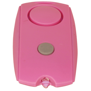 Mini Personal Alarm With Flashlight And Belt Clip Pink