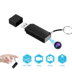 Working USB Drive With Hidden Camera And DVR With Key Ring Info Graphic Cap Removed