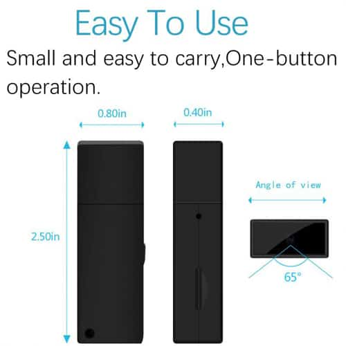 Working USB Drive With Hidden Camera And DVR With Key Ring Info Graphic