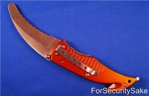 Rescue Knife Tool Open Showing Clip