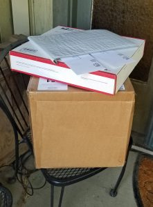 Packages and envelopes On Porch