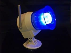 HomeSafe Wireless Siren Dark With Light.