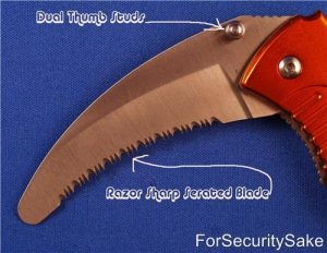 Rescue Knife Tool Showing Blade and Thump Stud