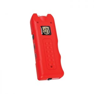 MultiGuard Stun Gun Rechargeable With Alarm and Flashlight – Red Front