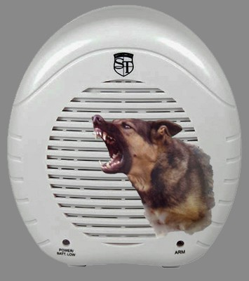 Barking Dog Alarm with Real Dog Face Front Page